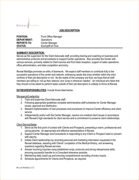 front desk officer duties and responsibilities 12 front desk manager job description invoice template