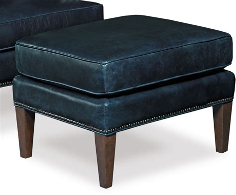 Blue Leather Ottoman - blakeley blue leather ottoman from coleman furniture