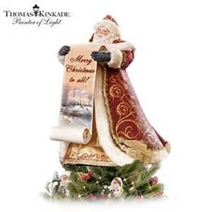 thomas kinkade santa tree topper 319296001