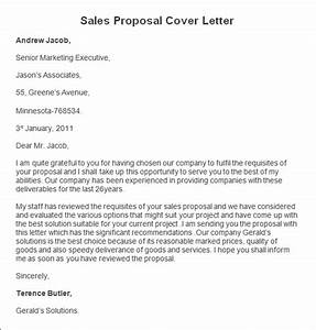 sample sales proposal cover letter sales proposal cover With sales offer letter template