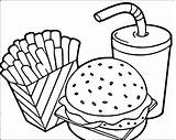 Fries Coloring Pages French Mcdonalds Printable Print Getcolorings sketch template