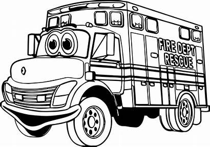 Coloring Rescue Fire Truck Dept Pages Wecoloringpage