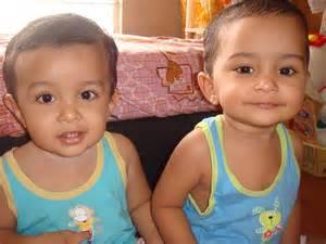 Cute Mixed Twin Babies Girls