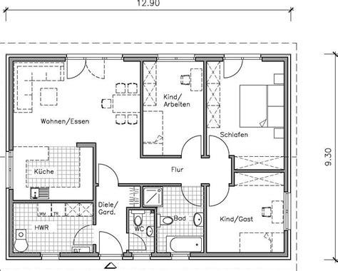 Grundriss Bungalow 100 M2 by Kleiner Bungalow 100 Qm Grundriss Massiv Bauen In Hannover