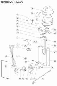 B10 Dryer Parts  U0026 Diagram For Belvedere Hair Dryer