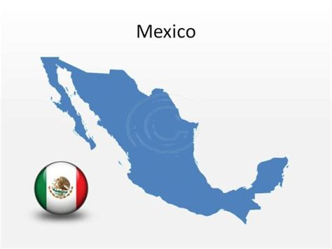 Download High Quality Royalty Free Mexico Powerpoint Map