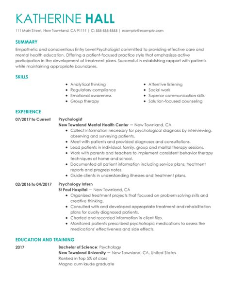 Psychology Resume Template by 20 Best Resume Templates Of 2019 Resume Now