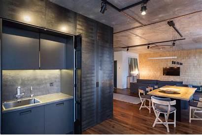 Kiev Apartment Kitchen Serene Abode Sink Cabinets