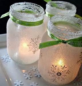 White Christmas Mason Jar Luminaries ...