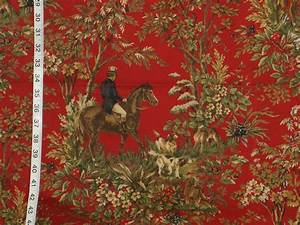 Ralph Lauren horse toile fabric home decorating - a photo