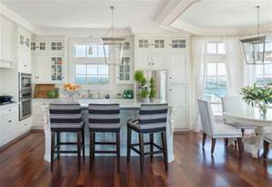 Navy And Blue Striped Curtains by 10 Decorating Ideas For A Coastal Kitchen