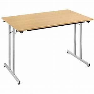 Pied De Table Pliant : table pliante d 39 appoint 140 x 70 cm plateau h tre pied alu ~ Teatrodelosmanantiales.com Idées de Décoration