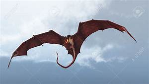 21044900-Red-fire-breathing-dragon-flying-in-to-attack ...