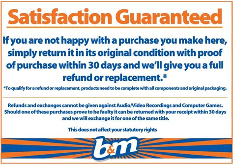 bm stores returns policy