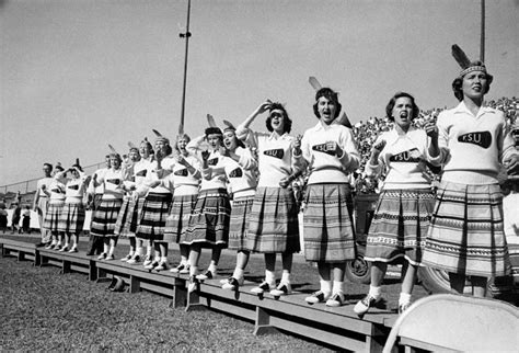 spirited vintage   cheerleaders  action