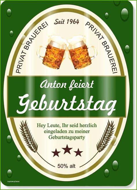 bier etikett vorlage word frische einladungskarten