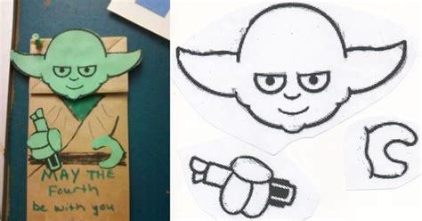 fourth    yoda paper bag puppet