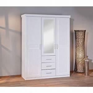 Kleiderschrank 3 Türig Weiß : kleiderschrank stodde 3 t rig kiefer massiv wei mytoys ~ Indierocktalk.com Haus und Dekorationen