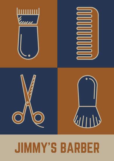 brown wavy border beauty salon flyer templates  canva