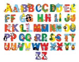 Wooden Animal Alphabet Letters