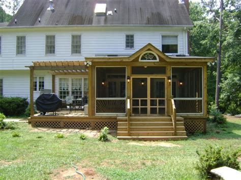 Home Front Porch Design, Decks And Screened Porch With Hot