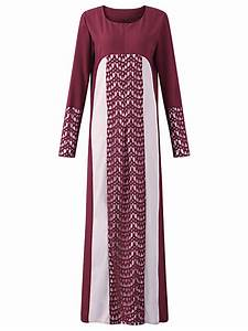 new muslim women robe lace patchwork long sleeve dresses With robe patchwork