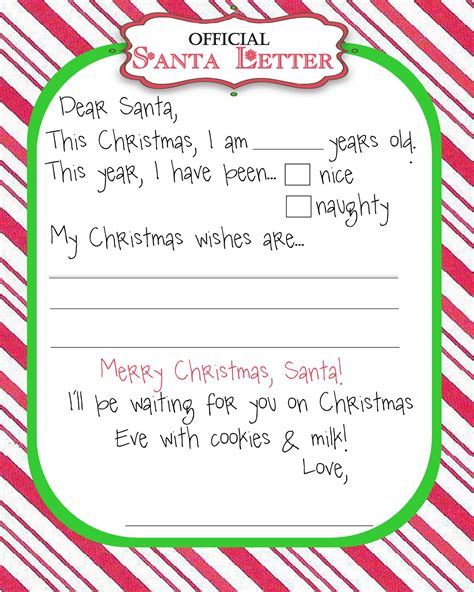 santa letter template free printable thanks for the moo moo s tutus manic monday freebie santa letter 93265