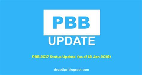 Pbb 2017 Status Update (as Of 18 Jan 2019