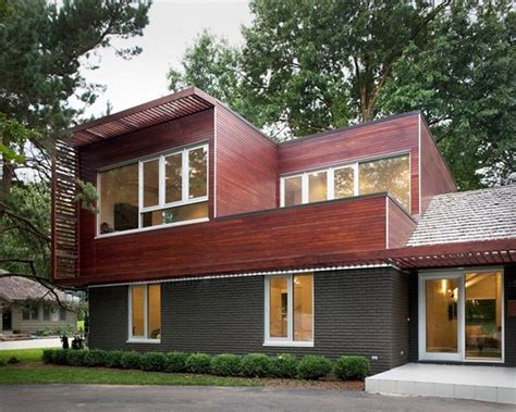 brick home floor plans modern brick house with two window modern house