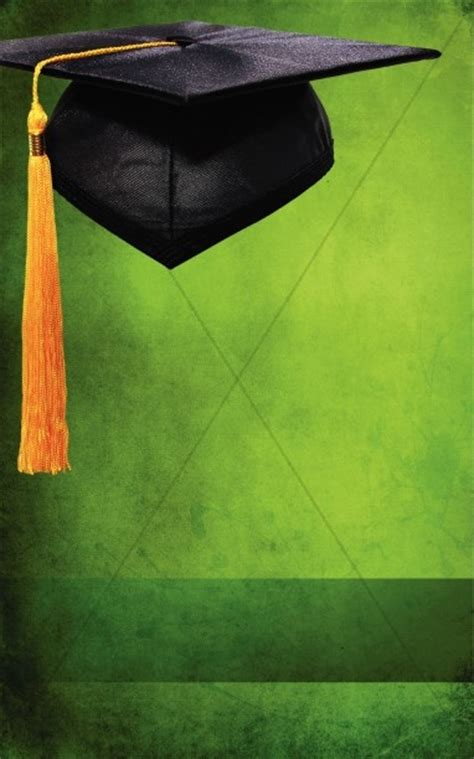 graduation green program cover secular holiday bulletin