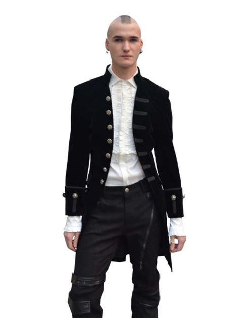 Black Alternative Gothic Coat for Men - Devilnight.co.uk