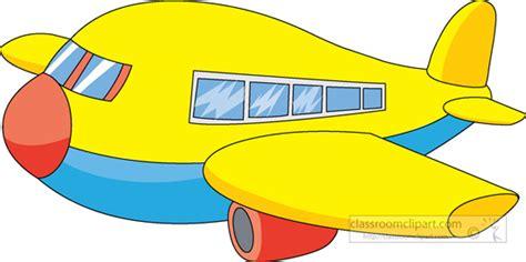 Yellow-cartoon-style-airplane