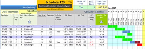 excel based production planning  scheduling templates