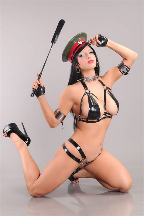 Busty RubberDoll Teases Her Pussy With Huge Dildo
