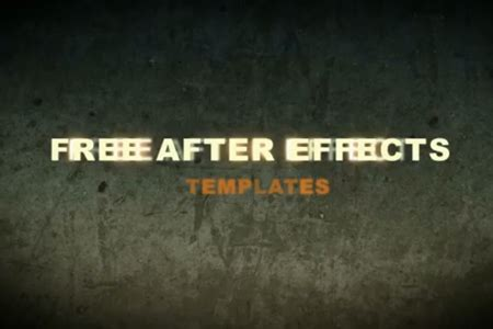 Free After Effects Title Templates by Free After Effects Templates 20 Project Files Set 1