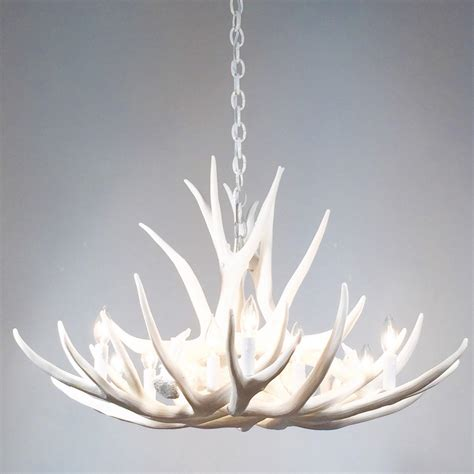 deer antler chandelier with crystals light fixtures