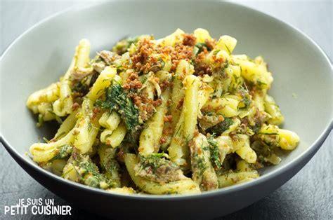 cuisine sicilienne recette de p 226 tes aux sardines pasta con le sarde