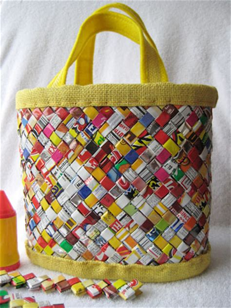 diy recycled candy wrapper bag  eats