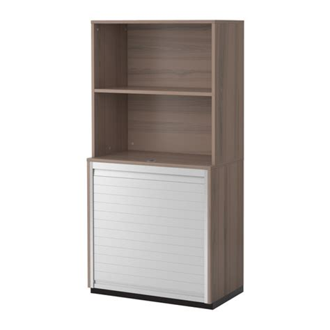galant storage combination with roll front gray ikea