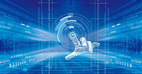 Digital Screen Wallpaper by Science Blue Panels Psd Innovation Technology