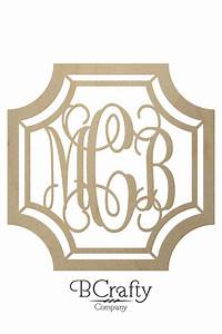 gem stone monogram wooden letters wooden monogram bcrafty With monogram house letters