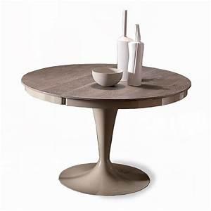 Tables Rondes Extensibles : table ronde extensible eclipse bois meubles et atmosph re ~ Teatrodelosmanantiales.com Idées de Décoration