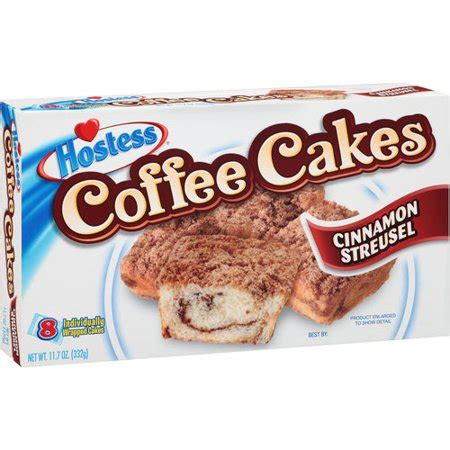Learn the good & bad for 250,000+ products. Hostess Cinnamon Streusel Coffee Cakes, 8 count, 11.7 oz ...