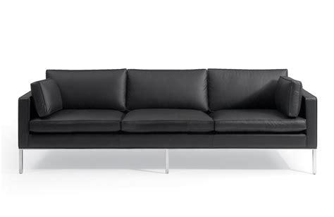 canapé trois places pin canapé cuir design trois places avec têtières relax