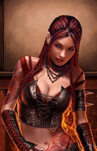 Human Thief Female Rogue Fantasy Portrait Fantasy