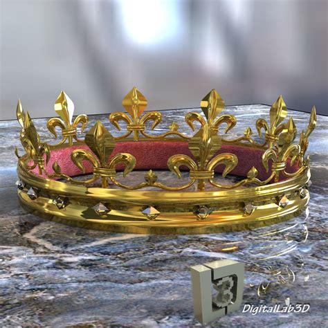 throne 3D Gold Crown | CGTrader