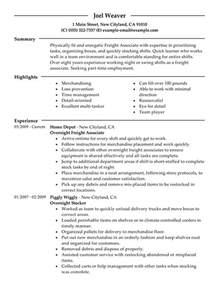 resume objective for part time retail part time overnight freight associates my resume