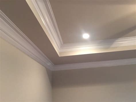 Tray Ceiling Crown Molding by I Don T Like This Crown Moulding Coffered Ceiling Look