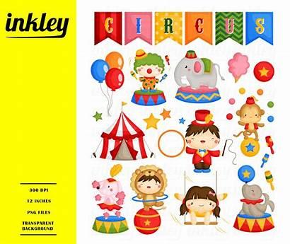 Circus Carnival Clipart Clip Monkey Elephant Theme