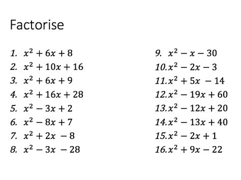expand simplify factorise  mmaths teaching resources
